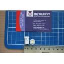 Żarówka diodowa, odpowiednik całoszklanej W5W, pojedyńcza dioda SMD 5050, biała, kpl 2 szt.